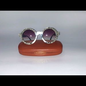 Missoni Round Frame Sunglasses